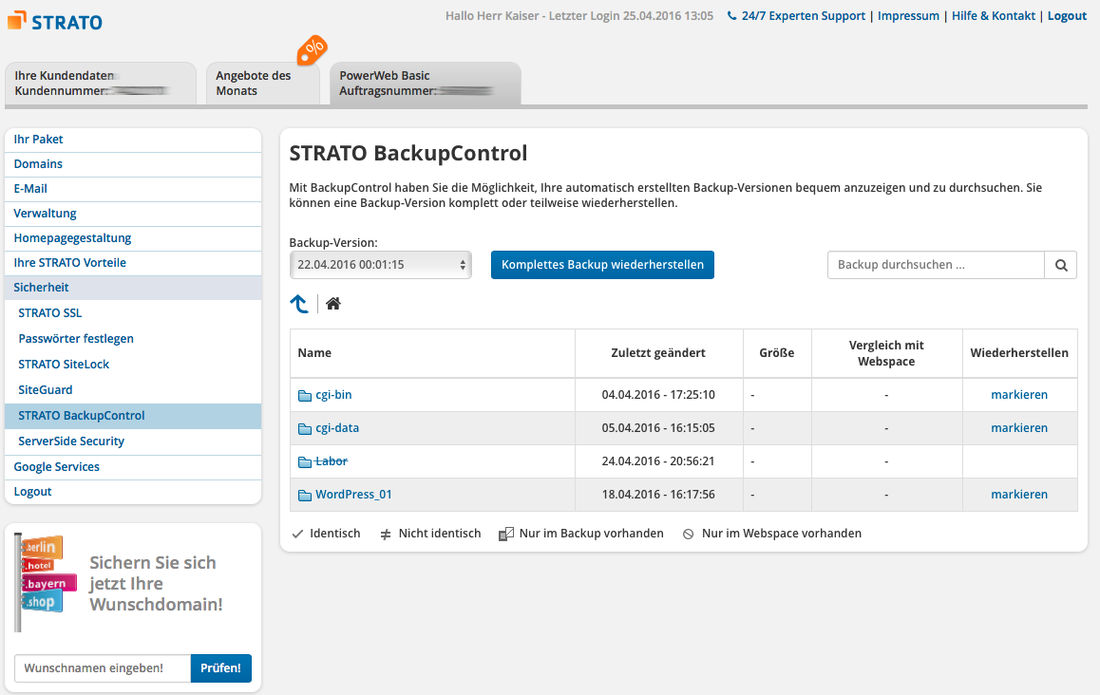 Strato Domain ändern strato archive hosting professor