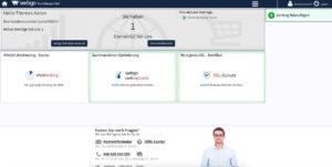 Übersicht des webgo Kundenportal