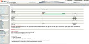 Übersicht des webgo Wespace-Admin