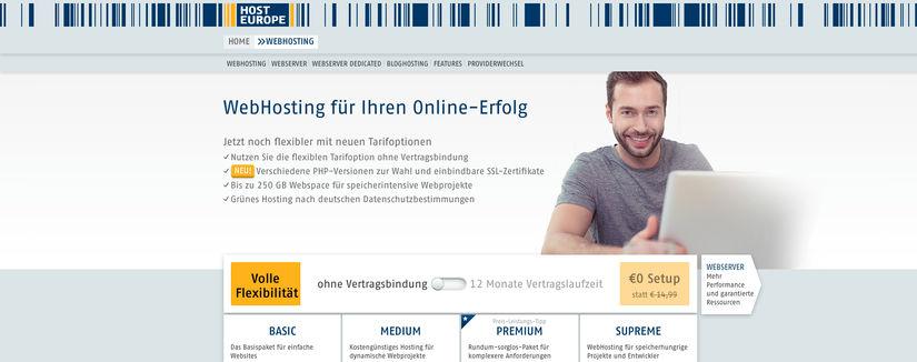 Hosteurope Webhosting Test