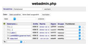 Zugriff auf den webgo Web-FTP